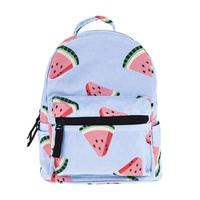 RTS Fashion Kids Back To School Backpack 3D Printed Watermelon Mini Bag Schoolbag For Children