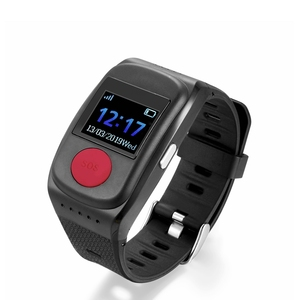 IP67 Heart Rate Monitor GPS SOS Button System Device Elder Watch