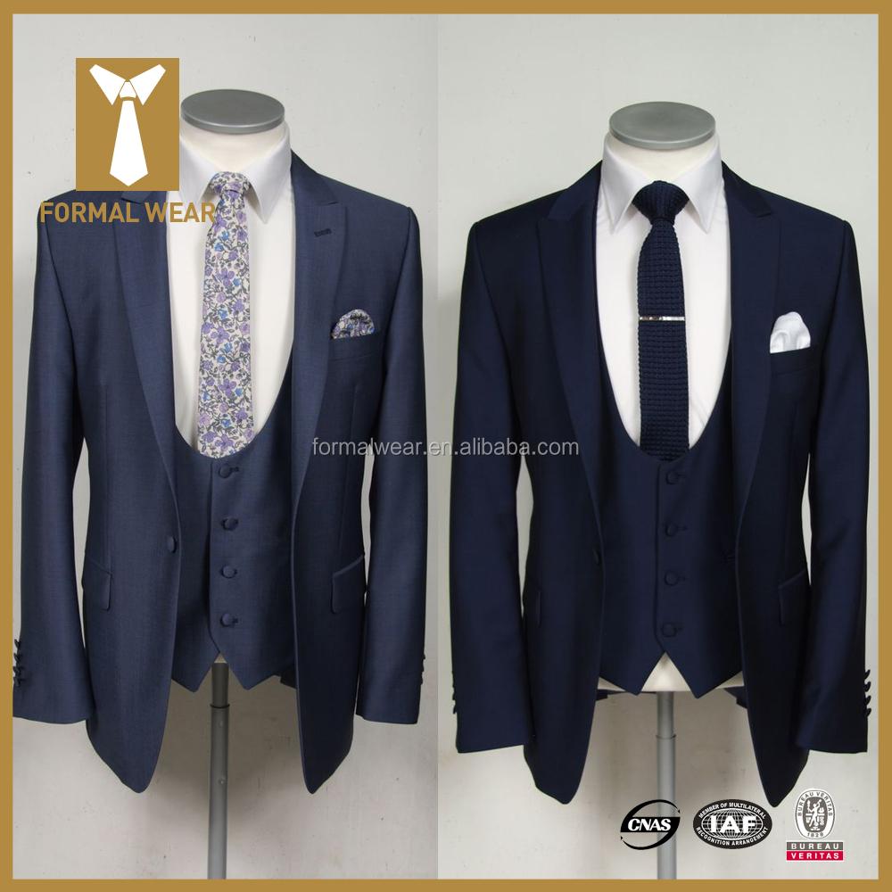 Ropa Formal marcas 100% lana solo pecho trajes para los hombres italianos