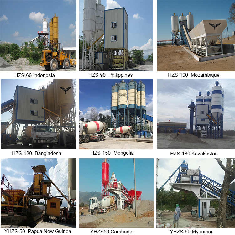 China Supplier HLS120 Concrete Batching Plant