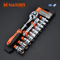 All Kinds Of Dissimilarity Auto Tool 12pcs 12.5mm Chrome Vanadium Spanner Socket Set with Box