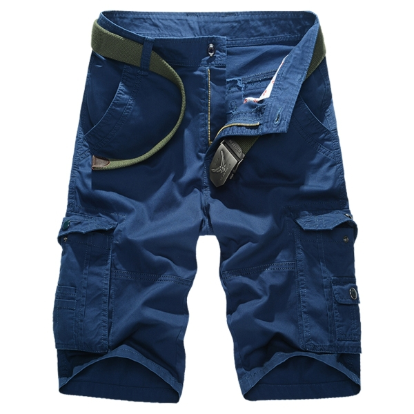 2015 New Fashion Style Men Casual Shorts Size 29-42 Male Knee Length Clothing Man Short Cloth Solid Color Fit Summer
