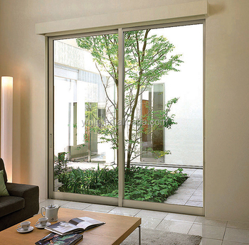 Residential Interior Small Sliding Patio Door With Double Tempered Glass