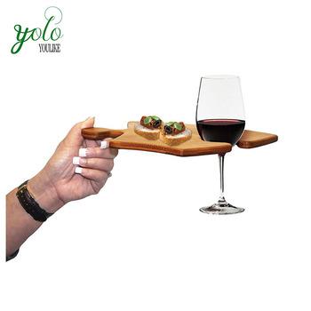 gebogen puzzel schotel vormige bamboe wijn dienblad buy. Black Bedroom Furniture Sets. Home Design Ideas
