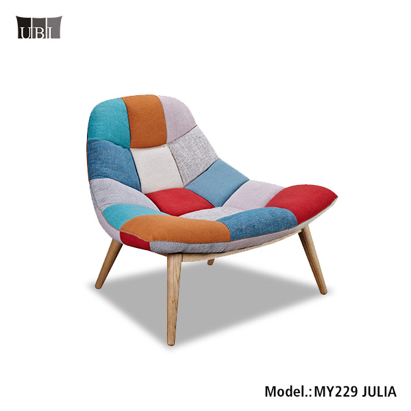Fabric Patchwork Chair Living Room Sex Sofa Accent Chair