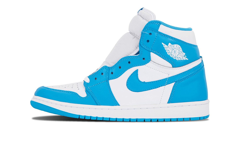 Get Quotations � Nike Mens Air Jordan 1 Retro High OG UNC White/Dark Powder  Blue Leather Size