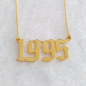 Birth Year Necklace,Christmas gift,birthday present,factory wholesale