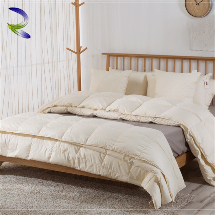 Good supplier stitching wholesale china goose feather hotel quilt