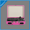 Wholesale price suitcase vinyl turntable lp record player / gramophone / phonograph