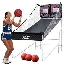 HLC Sports Double Shot Indoor Electronic Shooting Machine, Two Players Basketball Stand HLC-LS-SSB2001