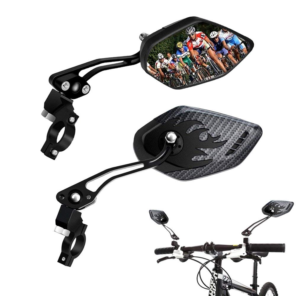Adjustable Angle Bike Bicycle Cycling Helmet Rearview Mirror Rear View Mirrors