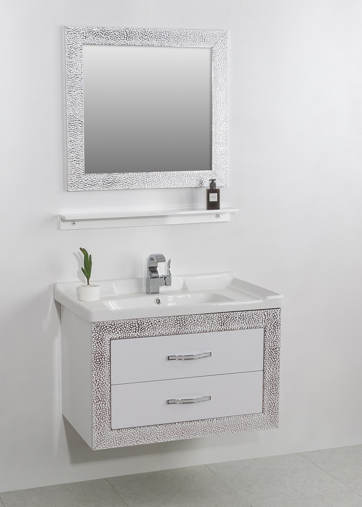 Factory Price Modern Style Furniture h White Single Bathroom Vanity Sets