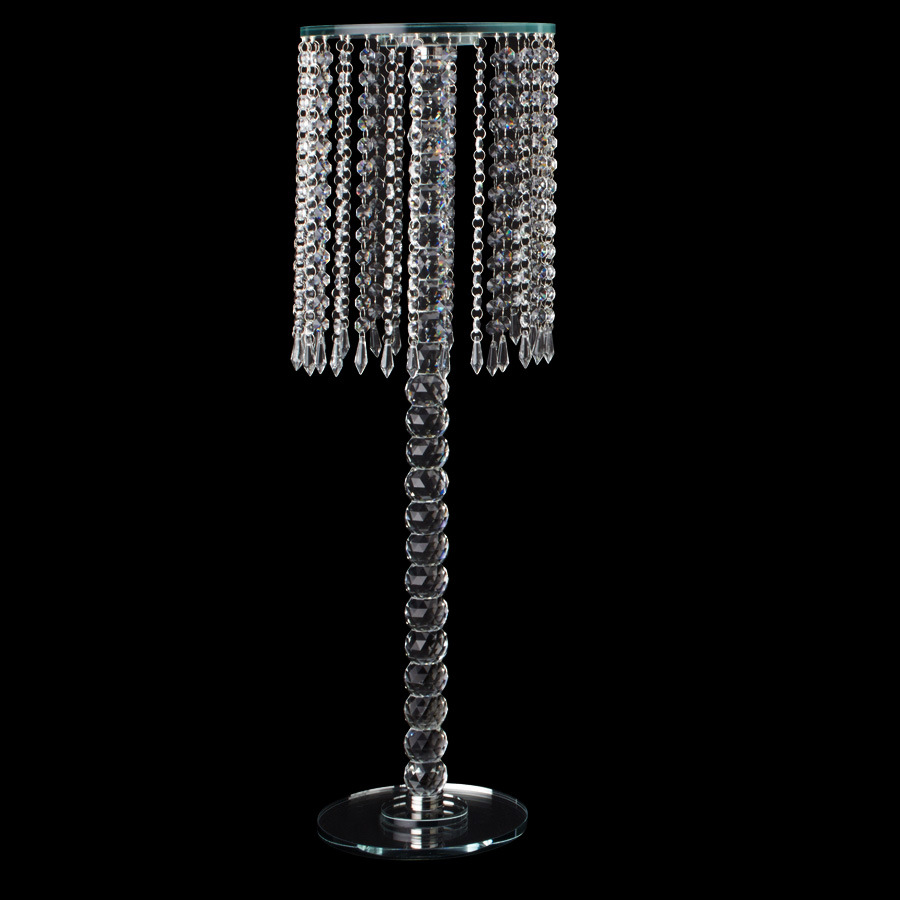 BEST QUALITY CHEAP WEDDING CRYSTAL BRANCH SHAPED CANDELABRA BASE GLASS PILLAR CANDLESTICK ANTIQUE