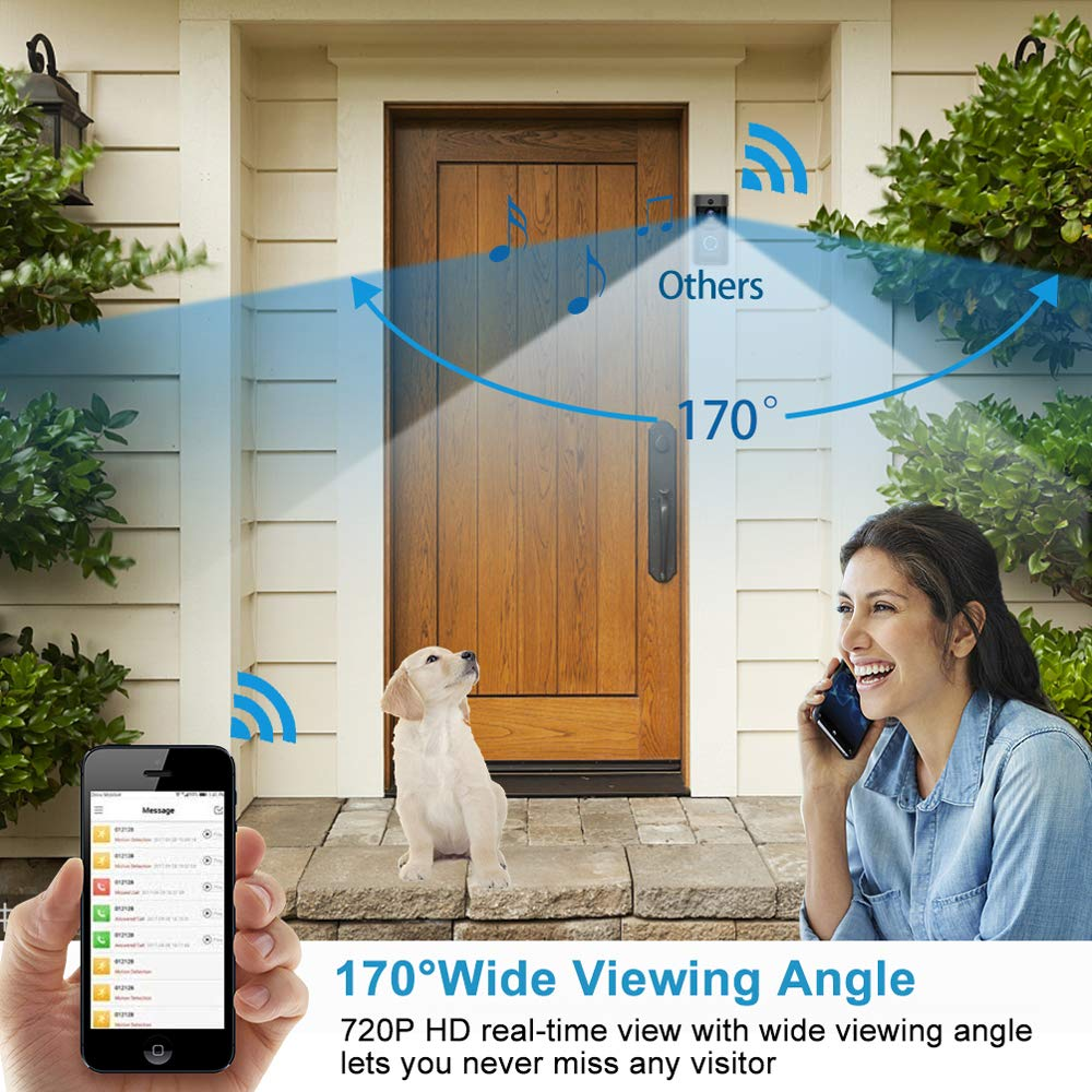 2019 ใหม่ไร้สาย Intercom Doorbell Smart Secure Door Bell 720P Home Security กล้อง