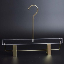 Acrilico trasparente più duro e ecofriendly coat hanger display stand con metallo rack,