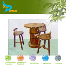 Wholesale Gray Handmade Outdoor Bamboo Round Furniture /Dinging Bamboo Chairs And Tables
