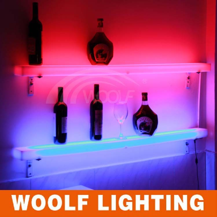 led Bar ice bucket Shelf LED Wine Rack for Bar Furniture / Roto Molded LED Wine Rack