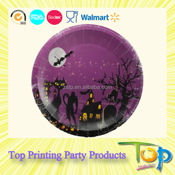 factory direct sales party decorating bulk paper plates for