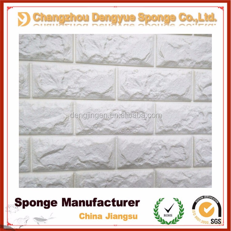 Soft Gray Brick Pattern Paneling Wall Mural Removable Wallpaper Home Decor Brick Foam Wallpaper