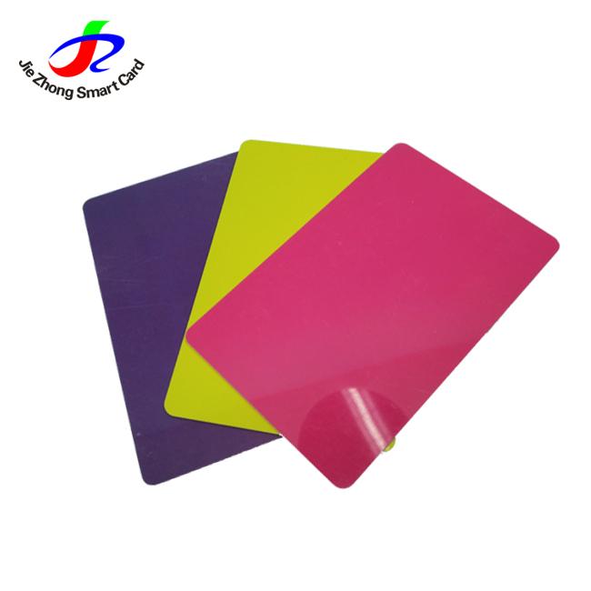Di Colore completo Stampato Su Misura Della Carta del PVC di Stampa Della Carta del PVC Carta DEL PVC Bianco