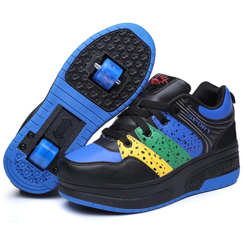 2020 Adidas Cloudfoam Elem 4 Kid Retractable Roller Shoes Wheels ent Race Black Black Grey Five Men's adidas Shoes