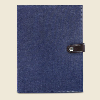 Denim cloth notepad buckle A5 notebook silkscreen logo