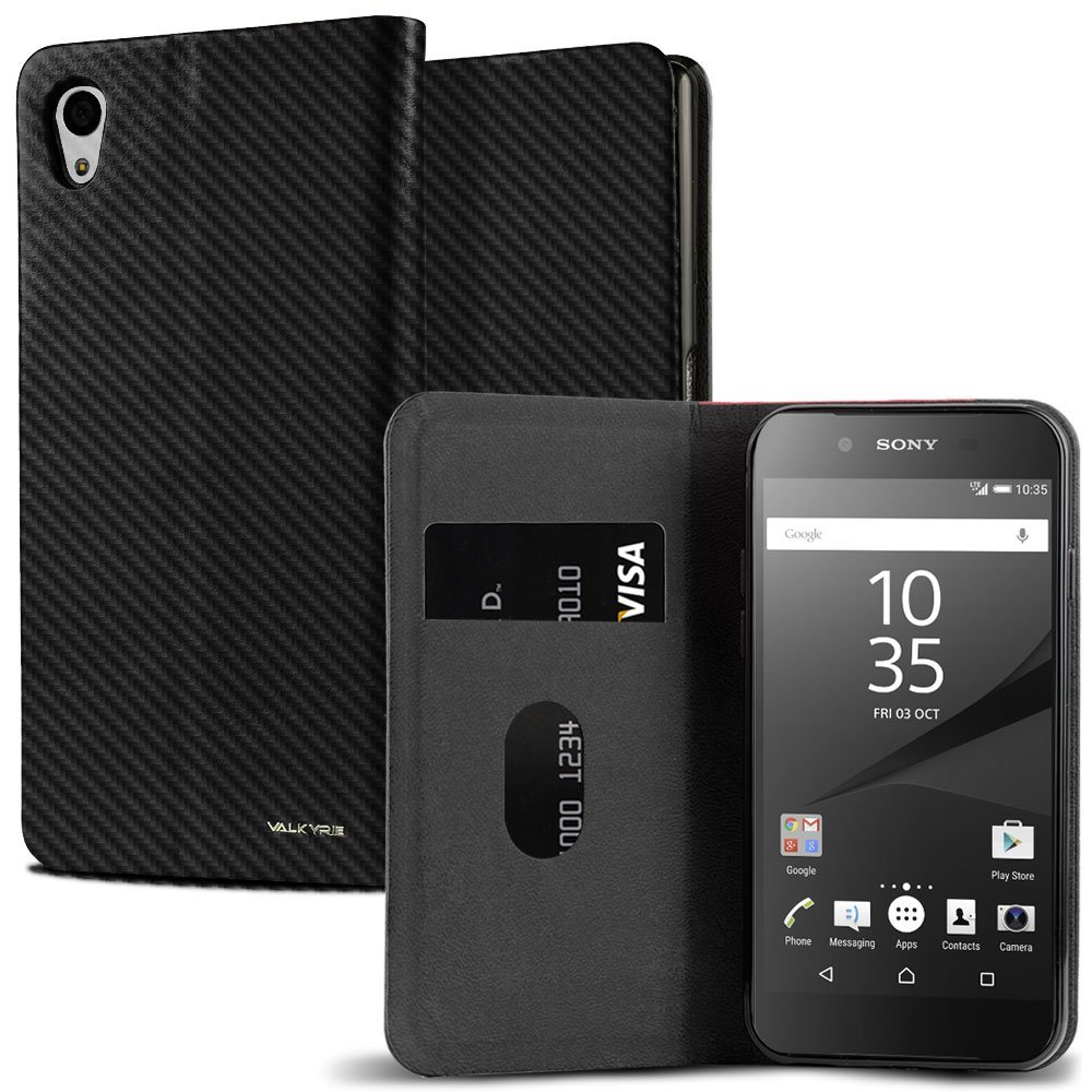 c98a7397e3d Get Quotations · Sony Xperia Z5 Case, VALKYRIE Xperia Z5 Flip Slim Wallet  Case For Sony Xperia Z5