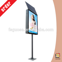 Pillar solar power advertising led light box display