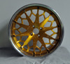 Brush Gold Clear Coat Spoke 3 pcs Forged Car Wheel