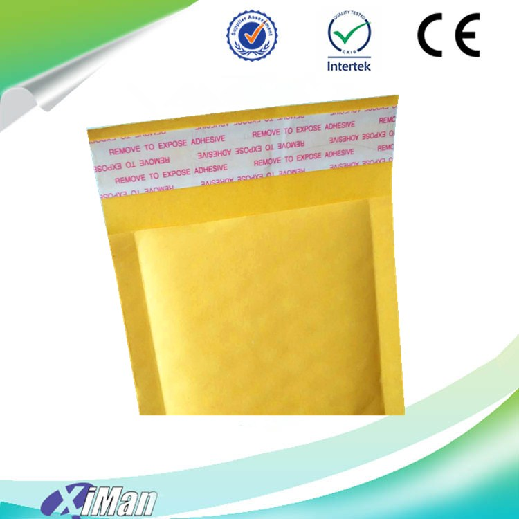 Latest promotion kraft paper bubble envelope 2017 Hot Sale Kraft Bubble Poly Mailers with Strong Self Adhesive