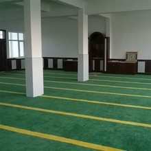 Green Red Axminster broadloom carpet prayer room mosque carpet