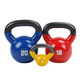 New custom colorful pvc coated contoured vinyl coated kettlebell with rubber