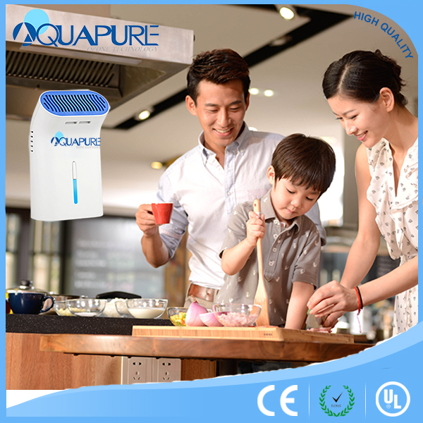 Economic aquaclean battery & USB home apliance mini air purifier ionizer