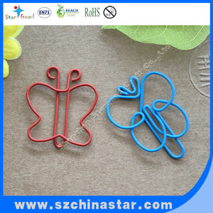 Different kinds of butterfly shape paper clips ROHS