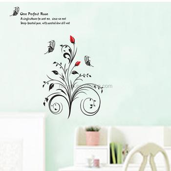 een perfect rose engels citaat bloemen muursticker voor slaapkamer woonkamer tv achtergrond muurtattoo grote klassieke behang