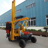 road safety barrier pile driver with extraction function