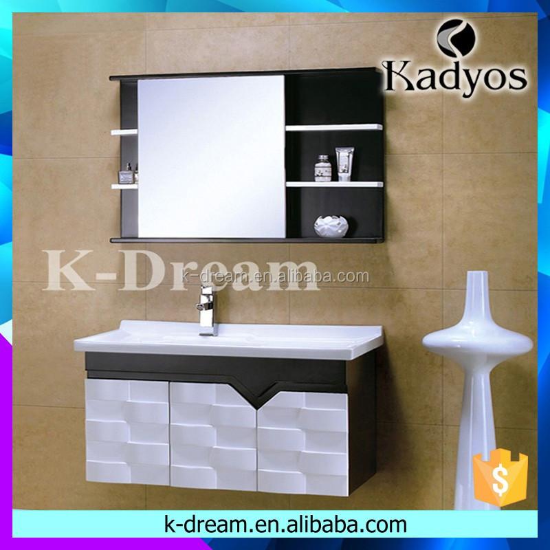Beau 2016 Bathroom Vanity, Wood Washbasin Cabinet Design KD BC003W