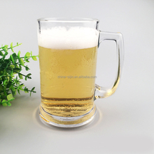 Glassware for hotel/home/restaurant promotional cheap beer glass with handle