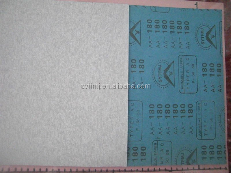 lated paper backing wet and dry abrasive paper sheet for cars and wood