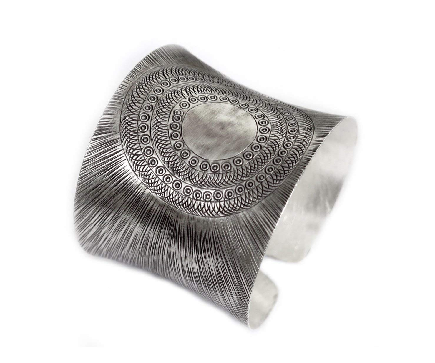 Handmade Sterling Silver Wide Cuff Bracelet, Scratched lines Texture Wide Cuff, Boho Wide Statement Silver cuff Bracelet, a Beautiful Gift for Her