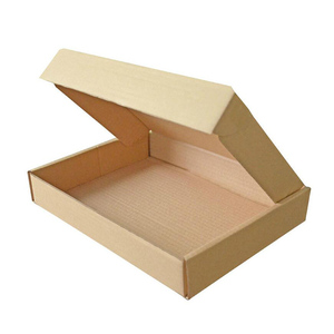 Plain kraft paper cartons corrugated box gift packaging box