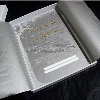 Wholesale Top Grade Luxury Wedding Card Invitation Acrylic Glass Card Wedding  Invitation
