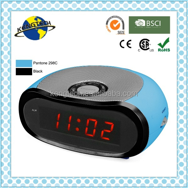Promotional Gifts Stylish Blue Pebble Shape Alarm Clock Radio