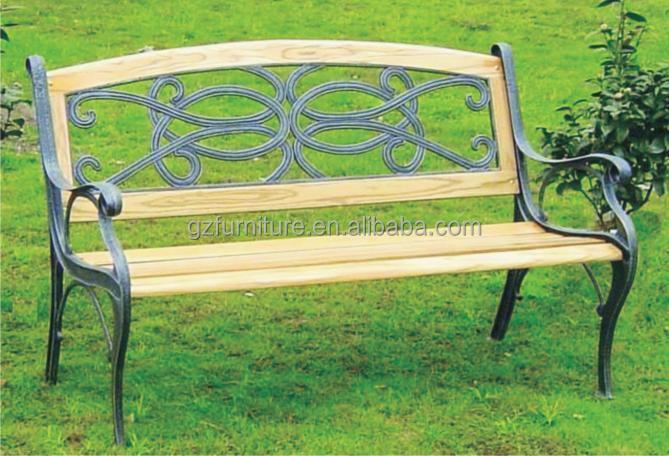 Utilizado parque jard n banco con patas de metal soportes jard n muebles de china sillas - Banco jardin barato ...