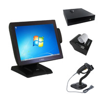 Professional mini base touchscreen pos terminal all in one with the second 10 inch customer display