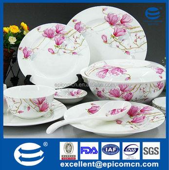pink flower blossom on new bone china dinnerware service table & Pink Flower Blossom On New Bone China Dinnerware Service Table - Buy ...