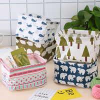 Desktop Storage Basket Sundries Underwear Toy Storage Box Cosmetic Book Organizer Stationery Container Laundry Basket