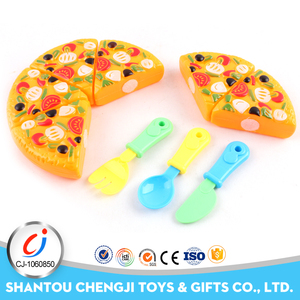 Household play set cutting pizza plastic pretend food toys for sale