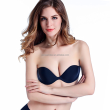 Seamless invisible bra built in padding for push up effect , invisible bra perfect for low-cut garment