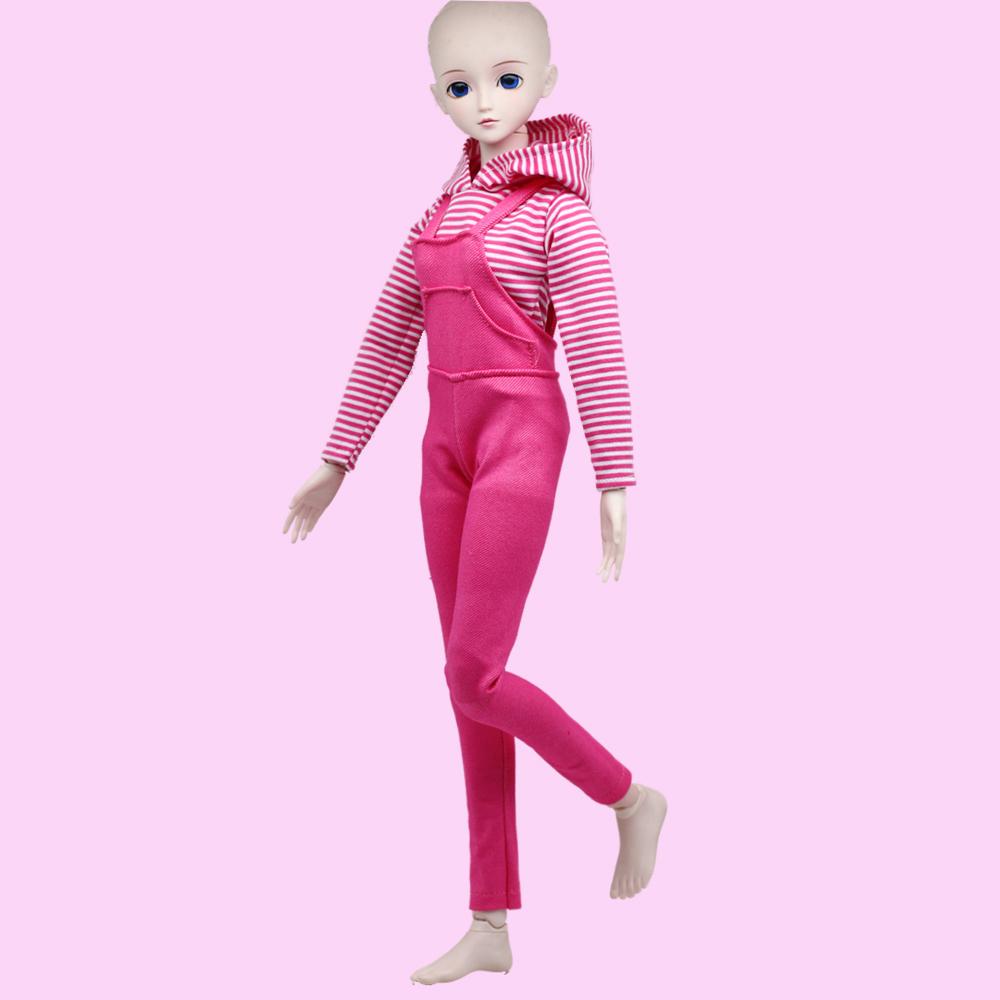 1 комплект, 60 см, аксессуары для кукол, одежда, рубашка и штаны для 1/3 BJD, одежда, игрушечный костюм для куклы, разноцветное платье для bjd, игрушк...(Китай)